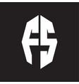 Fs logo monogram with octagonal ribbon style