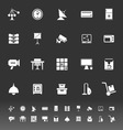 General office icons on gray background vector image