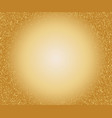 gold speckled background with glowing circle vector image vector image