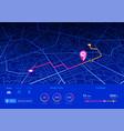 gps navigator pin blue color mock up vector image vector image