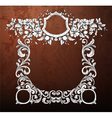 grunge frame with floral vector image vector image