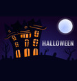 halloween castle concept background cartoon style vector image