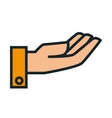 hand asking flat icon vector image