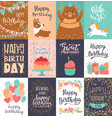 happy birthday card anniversary greeting vector image