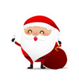 happy christmas character santa claus cartoon 001 vector image