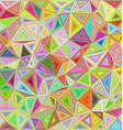 Happy color irregular triangle mosaic background vector image vector image