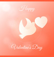 happy valentines day banner gift greeting card vector image