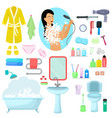 hygiene personal care beautiful woman vector image vector image