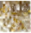 Iron chandeliers set vector image