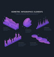isometric infographics elements business graphics vector image vector image