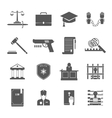 Law Enforcement Icons Set vector image vector image