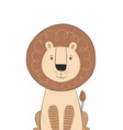 lion cute doodle hand drawn cartoon character vector image