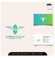 logo design agriculture drone technolgy vector image