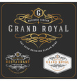 Luxurious Royal Logo Re-sizable Design vector image vector image
