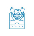 lying in linear icon concept lying in line vector image
