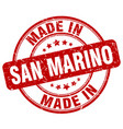 made in san marino red grunge round stamp vector image vector image