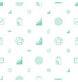 marketing icons pattern seamless white background vector image vector image