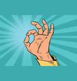 ok gesture signal man hand okay vector image vector image