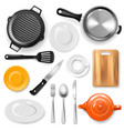 pan kitchenware or cookware for cooking vector image vector image