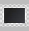 photo frame mockup design retro realistic vector image