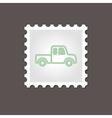Pickup truck stamp Outline vector image