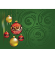Red and Gold Christmas Balls2 vector image vector image