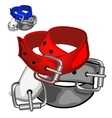 Red fashion leather belt Clothing accessory vector image