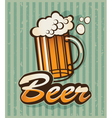 Retro beer vector image