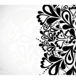 Retro black floral design vector image