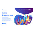 sales growth concept landing page vector image vector image