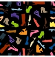 Seamless pattern of colored women shoes vector image vector image