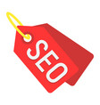 seo tags flat icon seo and development sign vector image vector image