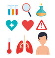 set covid19 19 pandemic icons vector image vector image