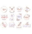 set hand drawn watercolor labels and badges for vector image vector image