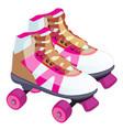 skate retro design a roller skate classic vector image vector image