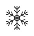 snow flake merry christmas related icon set vector image vector image