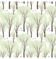 spring nature seamless pattern spring tree forest vector image