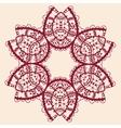 Stylized flower Ornamental outline mandala vector image vector image