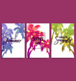 summer time blurred banner greeting card vector image vector image