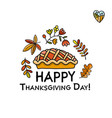 thanksgiving day pie sketch for your design vector image vector image