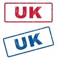 UK Rubber Stamps vector image vector image
