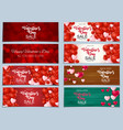 valentines day sale discont card collection set vector image
