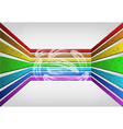 voluminous rainbow background vector image vector image