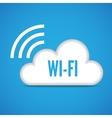 Wi-Fi cloud emblem icon vector image