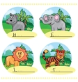 Word game - What is drawn on the picture vector image