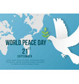 world peace day template design for banner vector image vector image