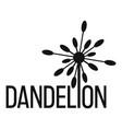 yellow dandelion logo icon simple style vector image
