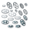 isometric big set of a gear wheels vector image