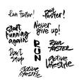 Inscriplions for sport motivation vector image