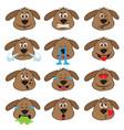 dog emojis set of emoticons icons isolated vector image